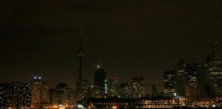 Toronto Canada during Earth Hour