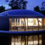 Float On In This Recycled Solar Powered Home Greener Ideal
