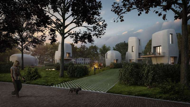 Dutch 3D printed houses